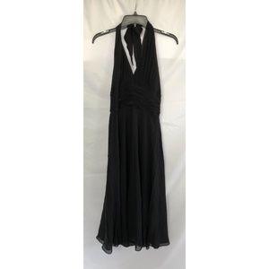 Donna Morgan Silk Maxi Dress Size 8